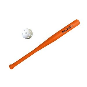 Plastic Baseball Bat w/Ball Set