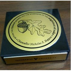 "3"" x 3"" x 3/4"" Black Marble Paperweight w/ a Square or Round Epoxy screen printed medallion."