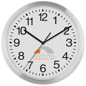 "12"" Slim Metal Wall Clock"
